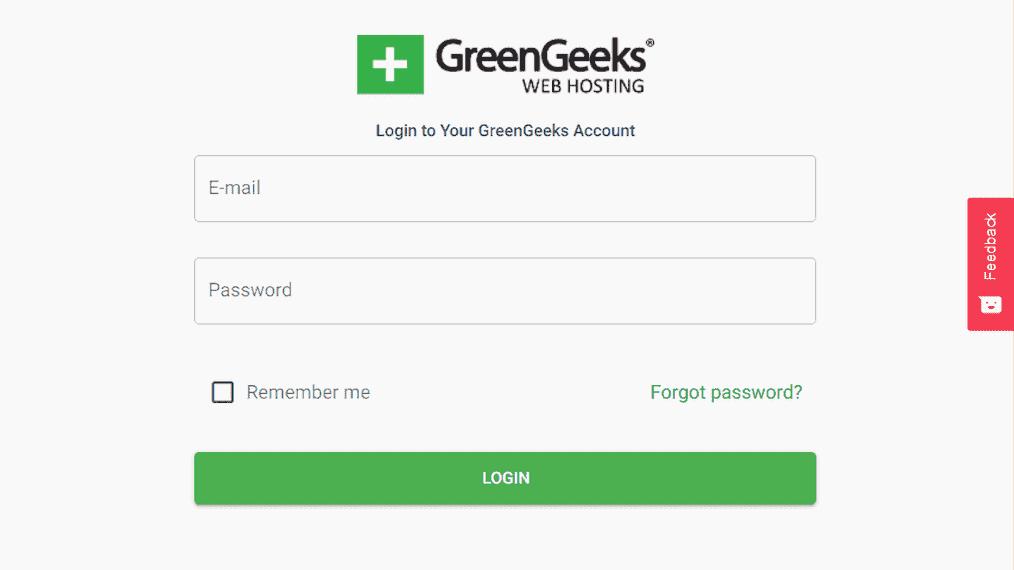 Greengeeks Account Login