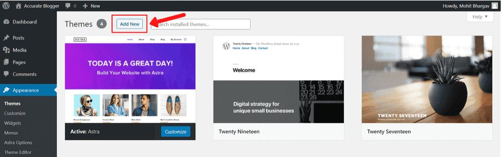 WordPress Theme Option
